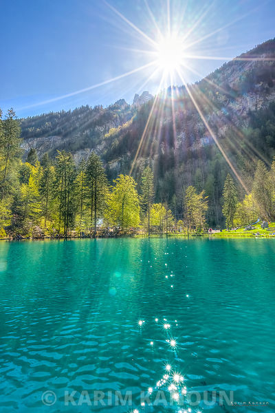 Blausee lake sunshine - Bern