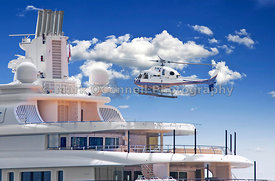 Superyacht radiant helicopter