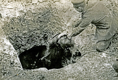 Land mines laid during WWI
