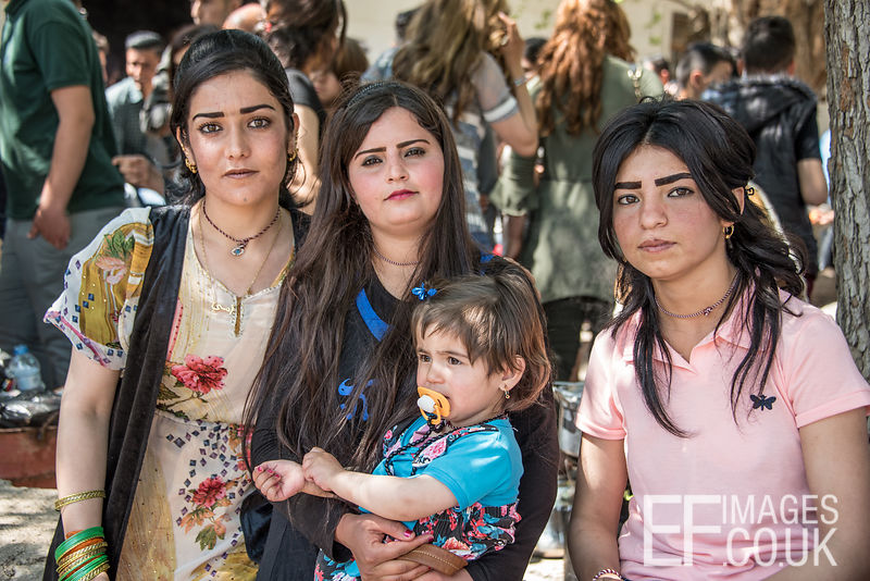 Yezidi Women Celebrating Red Wednesday, Or Yezidi New Year In Lalish, Iraq. 19th April 2017