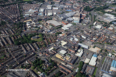 Bell Lane   Bury Greater Manchester from the air