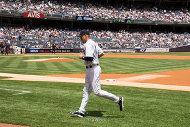 Derek Jeter at Yankee Statidum in the South Bronx in New York City.
