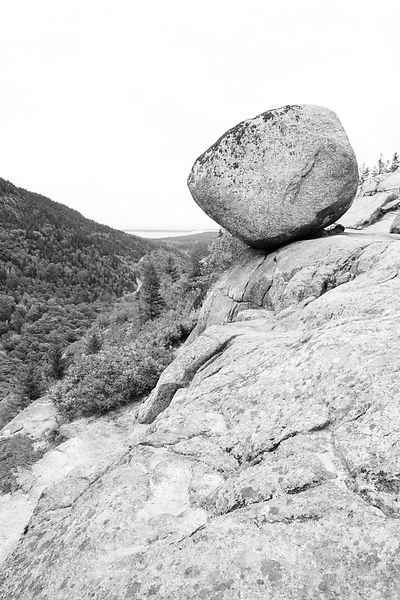 Acadia national park black and white photos prints for Large rocks for sale near me