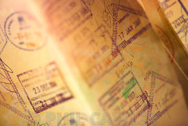 Uk Passport pages showing stamps