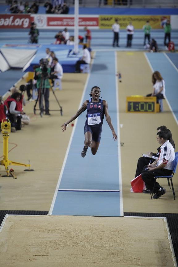 IAAF World Indoor Championships 2012 Istanbul Photos Angelos Zymaras Women's Long Jump. Brittney REESE (USA) wins the Gold medal 7.23m at the IAAF World Indoor Championships 2012 Istanbul Photos Angelos Zymaras