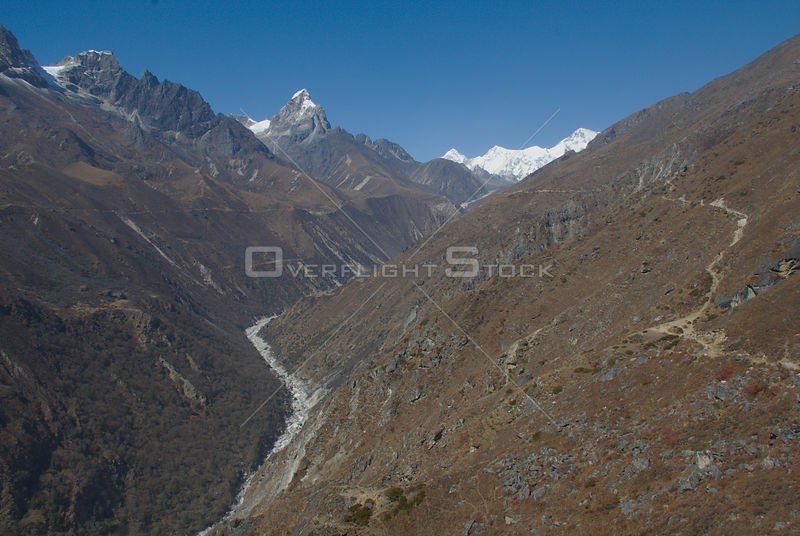 NEPAL Gokyo Valley -- The Gokyo valley of the Everest region (Khumbu Himal) of Nepal. This valley is increasingly part of the main Everest trail