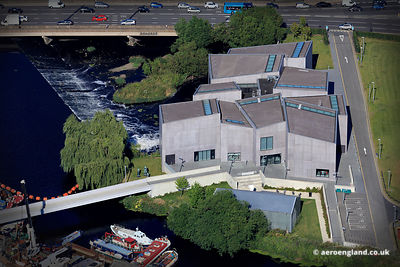 aerial photograph of The Hepworth Wakefield Gallery Walk Wakefield, West Yorkshire WF1 5AW