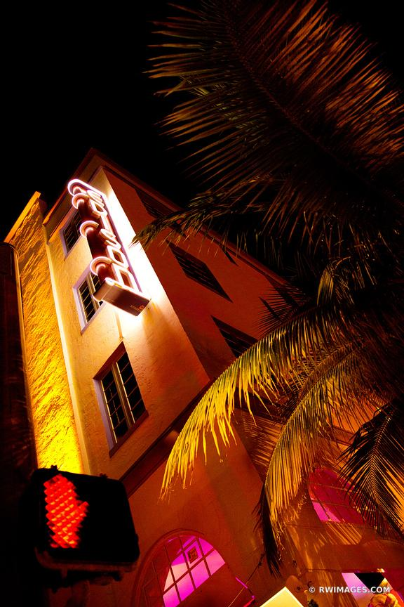 ART DECO ARCHITECTURE MIAMI BEACH FLORIDA NIGHT