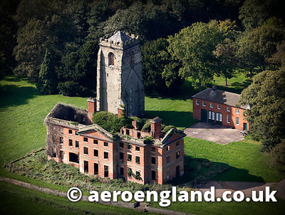 aerial photograph of Ranton Abbey Staffordshire England UK