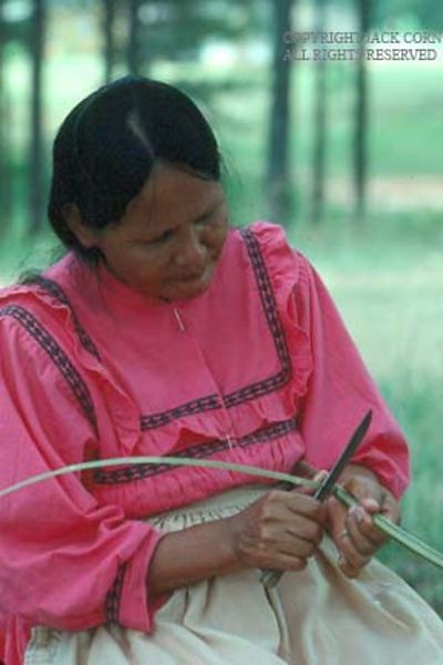 Choctaw basket weaver