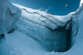 Flat Spin 360 over Crevasse with Julien Lange