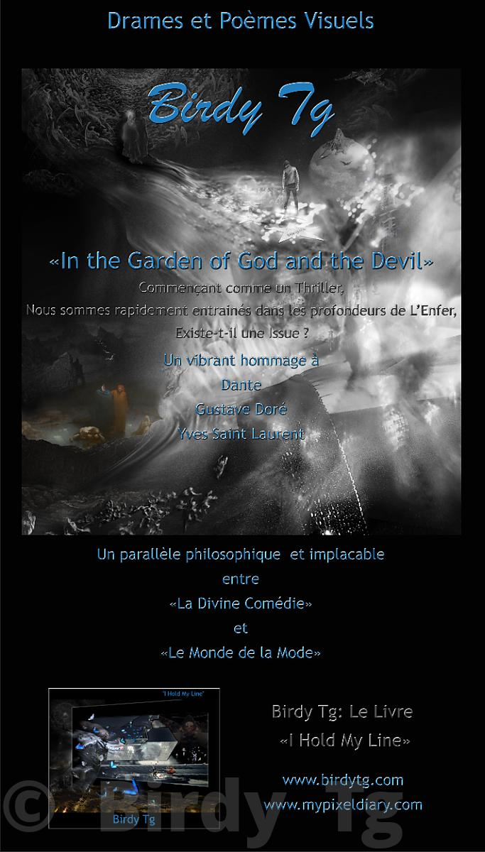 "Poster of ""In the Garden of God and the Devil"" PARIS EXHIBITION"