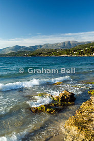 hills of kefalonia from lassi near argostoli ionian islands greece
