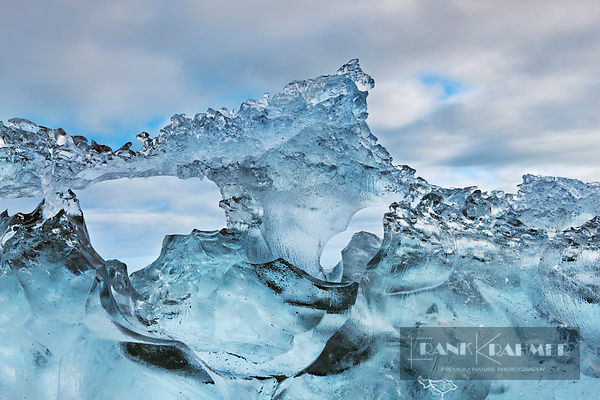 Glacier ice grinded - Europe, Iceland, Eastern Region, Jökulsarlon - digital