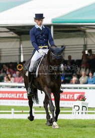 Ludwig Svennerstal and KING BOB - dressage phase,  Land Rover Burghley Horse Trials, 6th September 2013.