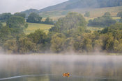 Early morning mist around Semerwater in the Yorkshire Dales, UK.