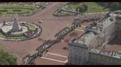 Aerial footage of Buckingham Palace. London.