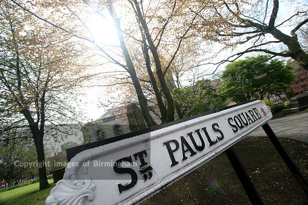 St. Paul's Square in the Jewellery Quarter of Birmingham, UK.