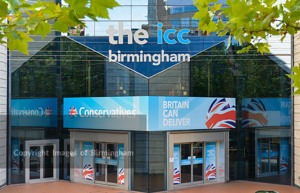 The Conservative Party Conference, Birmingham. The ICC, International Conference Centre.