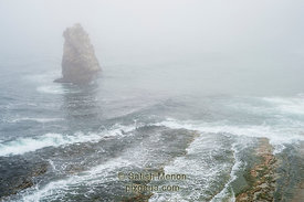 Sea Stack and Waves, Davenport, CA, USA