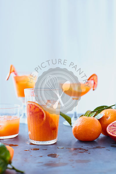Clementine Cocktail on Zinc