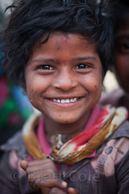 Portrait of a girl at the Pushkar Camel Mela, Pushkar, India.