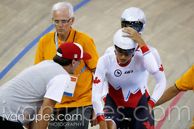 Mixed Individual Pursuit B  Qualification. Track Day 1, Toronto 2015 Parapan Am Games, Milton Pan Am/Parapan Am Velodrome, Milton, On; August 10, 2015