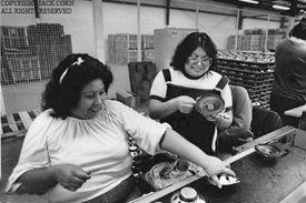 Choctaw women in wiring factory