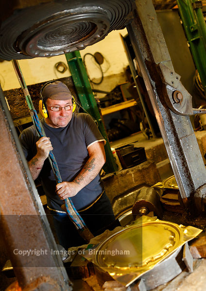 Working with metal in the Jewellery Quarter of Birmingham, UK