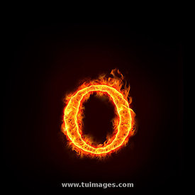 fire alphabets, small letter o