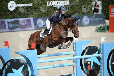 Jessica MENDOZA ,(GBR), SAM DE BACON during Caixa Bank Trophy competition at CSIO5* Barcelona at Real Club de Polo, Barcelona - Spain