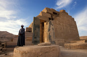 The Ramesseum, temple of Rameses II, Ancient Thebes, Luxor, Egypt