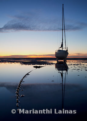 Boat at West Kirby (portrait)