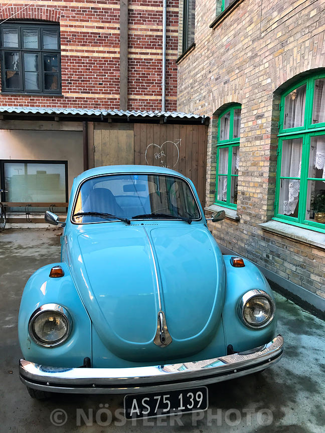 An old VW Beetle in Den Gamle By