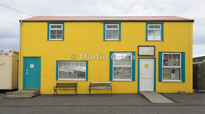 Colourful building by Stanley Harbour, Stanley, East Falkland, Falkland Islands