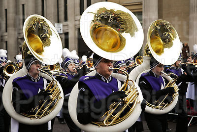London New Year Parade-Trojan Marching Band Downers Grove North