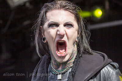 Chris Motionless, vocals, Motionless In White