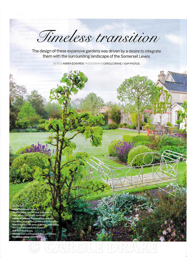 Westbrook House, Gardens Illustrated, May 2015 photographs