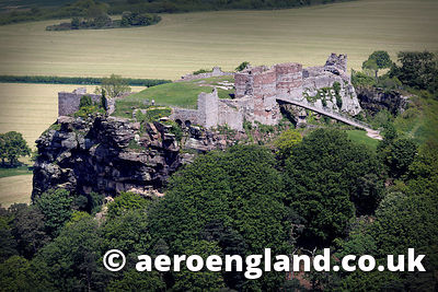 aerial photograph of Beeston Castle Cheshire England UK