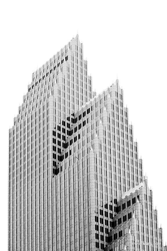 DOWNTOWN HOUSTON ARCHITECTURE BLACK AND WHITE