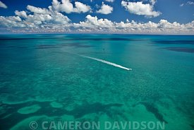 Aerial of Key west waters