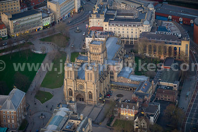 Aerial view of Bristol Cathedral, Bristol