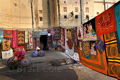 Tourist-oriented textiles shop in Jaipur, Rajasthan, India