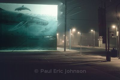 parking lot whale mural