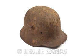 Rusty Vintage German Helmet Isolated