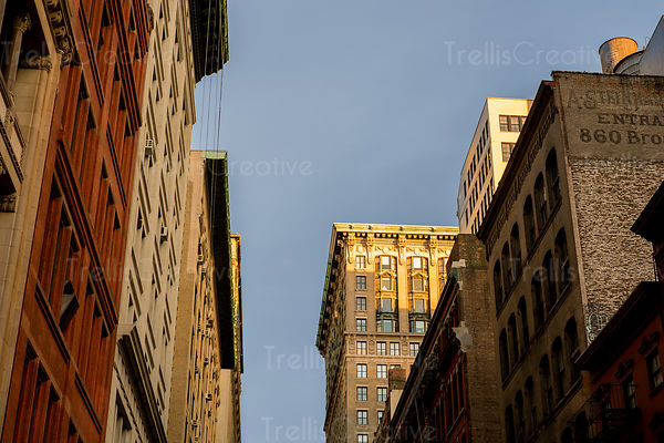 Exterior of buildings in New York City