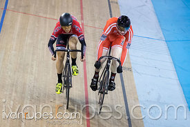 Junior Men Sprint 3-4 Final. Ontario Track Championships, Mattamy National Cycling Centre, Milton, On, March 4, 2017