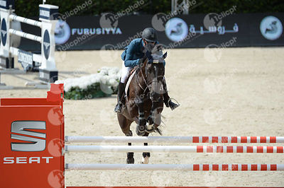 Pablo BARRIOS ,(VEN), PAPPA ANTE PORTAS during Negrita Trofey competition at CSIO5* Barcelona at Real Club de Polo, Barcelona - Spain