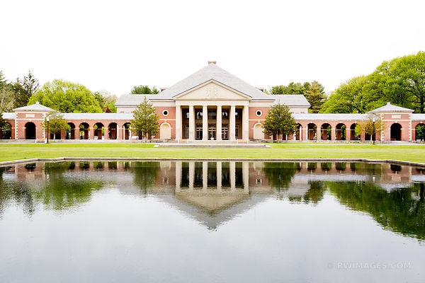 REFLECTING POOL HALL OF SPRINGS SARATOGA SPRINGS SPA STATE PARK NEW YORK COLOR