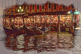Eating_at_night_in_Venice_illustration_watercolor